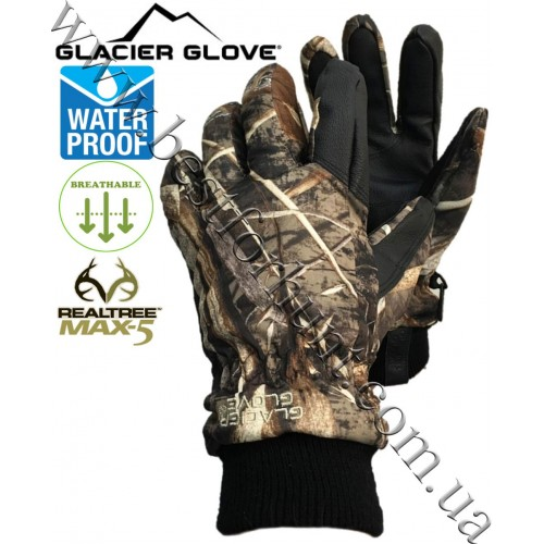 Glacier Glove® Alaska Pro™ Camo Hunting Gloves Realtree MAX-5®