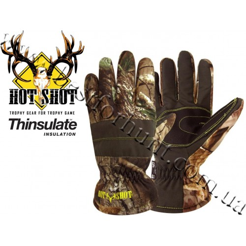 Jacob Ash Hot Shot Brushed Tricot Waterproof Insulated Hunting Gloves Realtree AP®