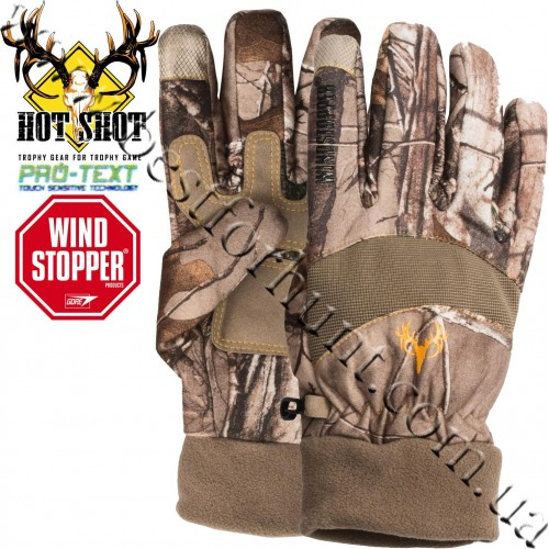 Jacob Ash Hot Shot Falcon Windstopper Camo Gloves Realtree Xtra®