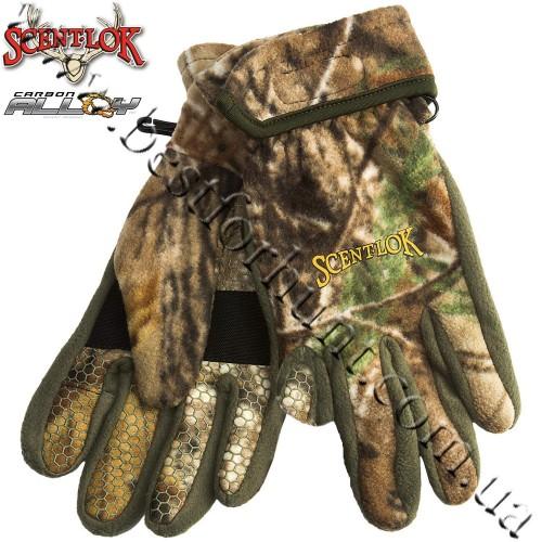 Scent-Lok® Timberfleece Carbon Alloy Release Gloves Realtree AP®