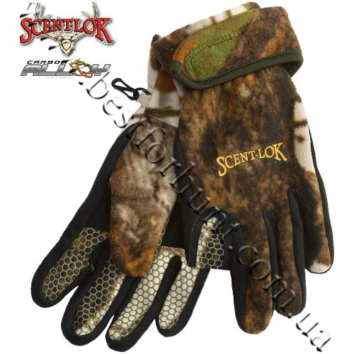 Scent-Lok® Timberfleece Carbon Alloy Release Gloves Vertigo™ Grey