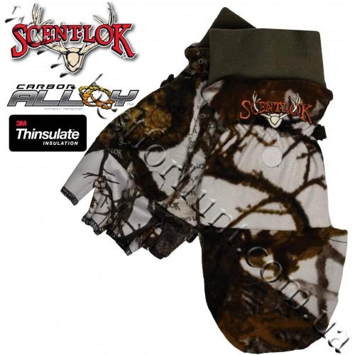 Scent-Lok® Timberfleece Pop Top Insulated Gloves Vertigo™ Grey