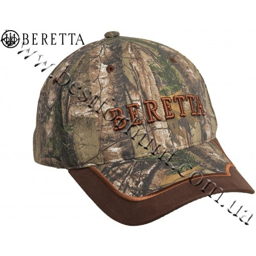 Beretta® Camo Hunting Cap with Leather Brim Realtree AP®