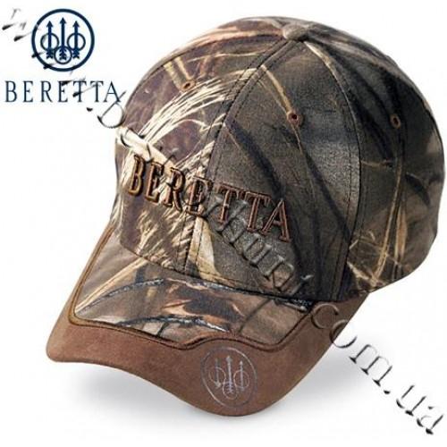 Beretta® Camo Hunting Cap with Leather Brim Realtree MAX-4®
