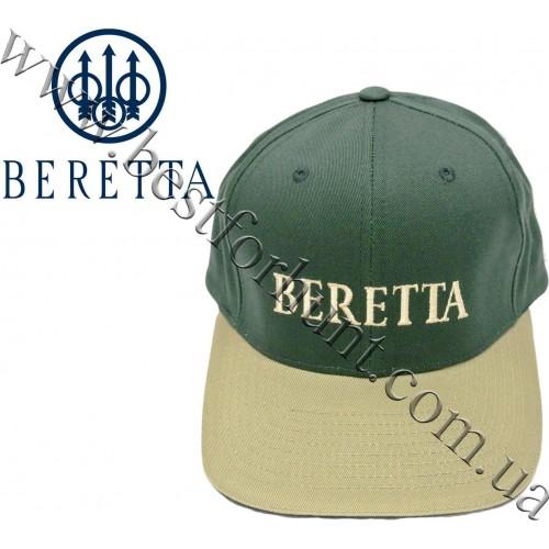 Beretta® Corporate Embroidered Logo Cap BC85 Green and Khaki