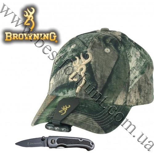 Browning® Night Seeker™ Cap Light and 3D Buckmark Camo Cap Mossy Oak® Treestand® and Knife Combo