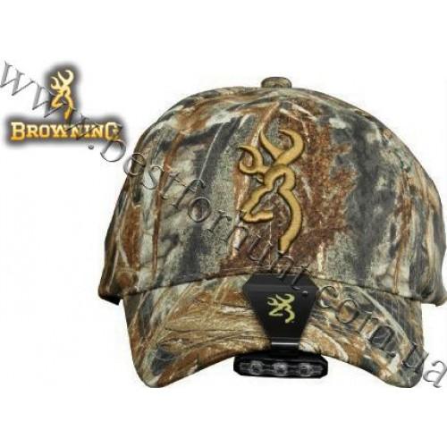 Browning® Night Seeker™ Cap Light and Camo Cap Combo Mossy Oak® Duck Blind®