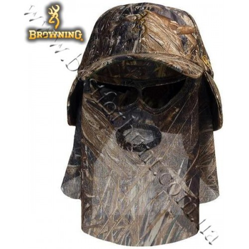 Browning® Quik Camo™ Face Mask Cap Mossy Oak® Duck Blind®