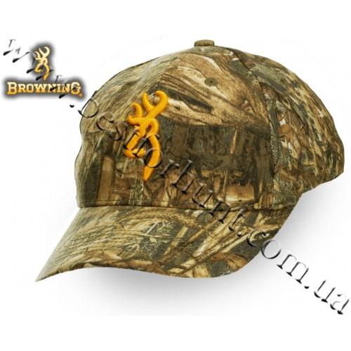 Browning® Rimfire 3D Buckmark Logo Cap Mossy Oak® Duck Blind®