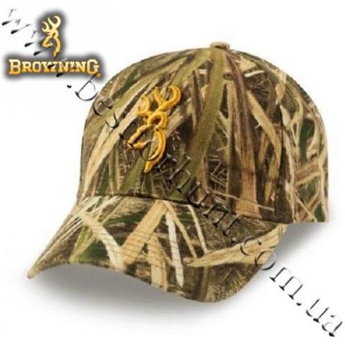 Browning® Rimfire 3D Buckmark Logo Cap Mossy Oak® Shadow Grass® Blades™