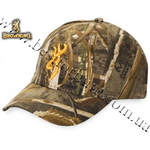 Browning® Rimfire 3D Buckmark Logo Cap Realtree MAX-5®