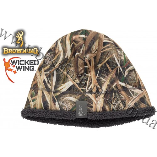 Browning® Wicked Wing™ High Pile Beanie Mossy Oak® Shadow Grass® Blades™