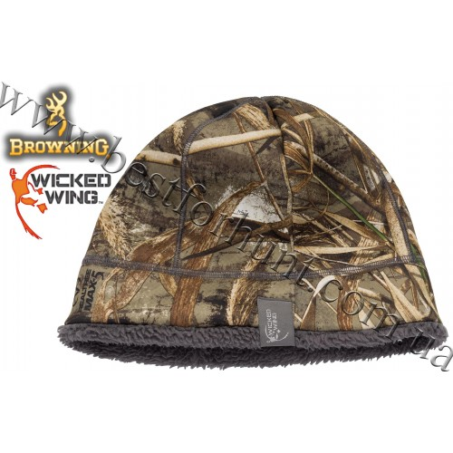 Browning® Wicked Wing™ High Pile Beanie Realtree MAX-5®