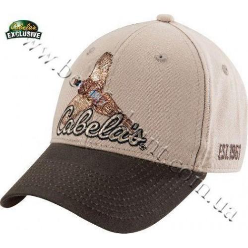 Cabela's Embroidered Pheasant Logo Caps Khaki