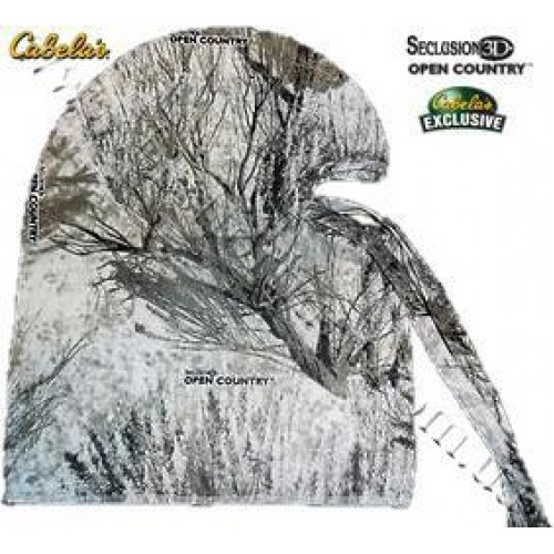 Cabela's Lightweight Coverup Facemask Seclusion 3D® Open Country® Winter