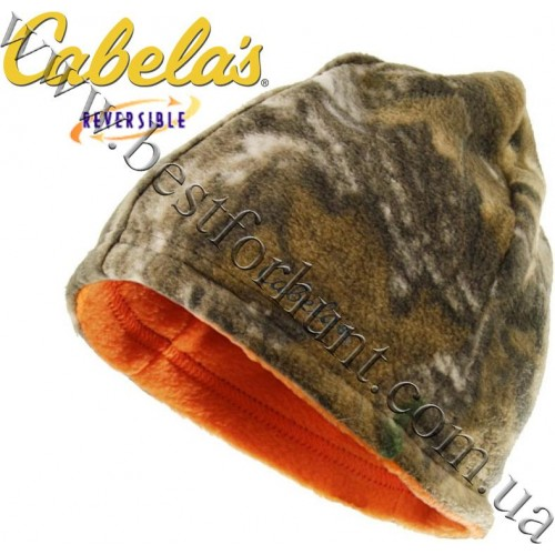 Cabela's Reversible Fleece Beanie Realtree Xtra®-Blaze Orange