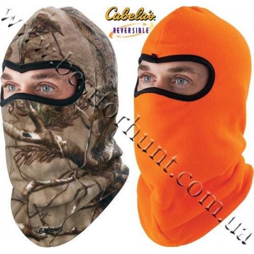 Cabela's Reversible Fleece Facemask Realtree AP®-Blaze Orange