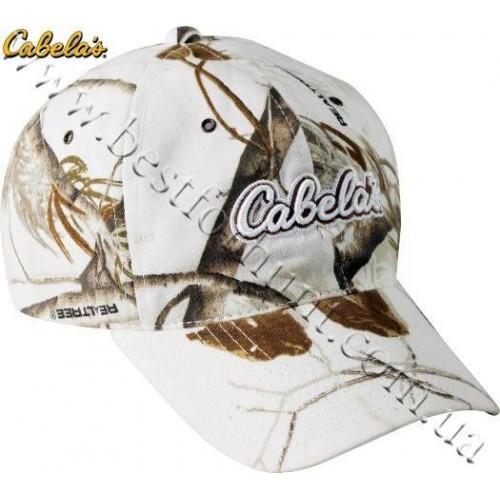 Cabela's Snow Logo Cap Realtree AP® Snow