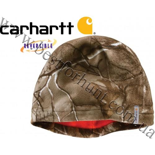 Carhartt® Force® Swifton Fleece Camo Reversible Hat Realtree Xtra®-Blaze Orange