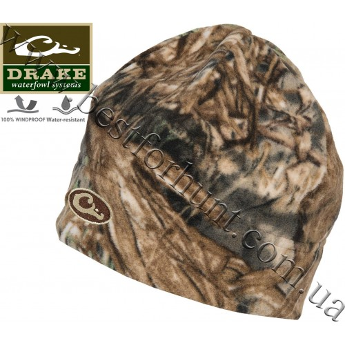 Drake Waterfowl® Windproof Fleece Stocking Beanie Mossy Oak® Duck Blind®