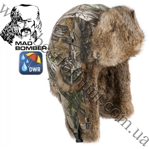 Mad Bomber® Canvas Bomber Realtree Xtra® with Brown Rabbit Fur