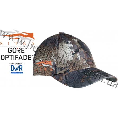 Sitka® Gear Cap with Side Logo GORE™ OPTIFADE™ Concealment Waterfowl Timber