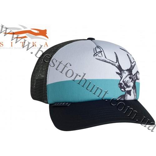 Sitka® Gear Field Sketch Whitetail Foam Trucker Hat Black