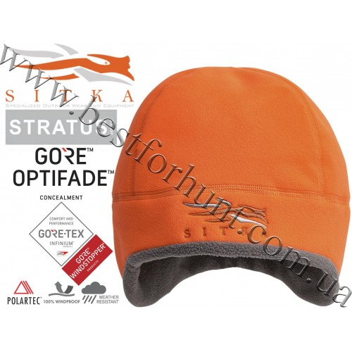 Sitka™ Gear Stratus™ WindStopper Beanie Blaze Orange