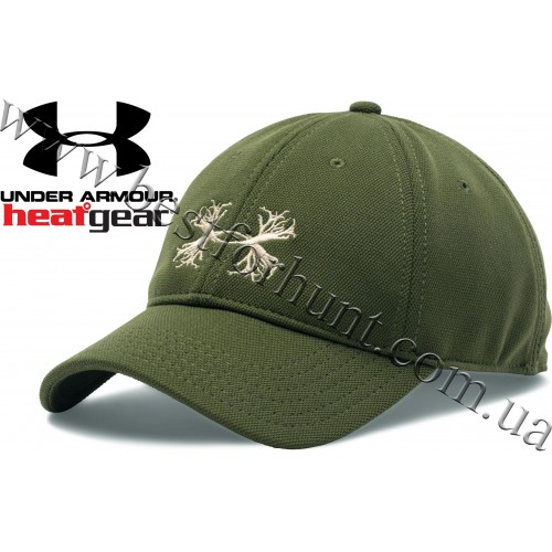 Under Armour® Antler Logo Adjustable Hunting Cap Greenhead