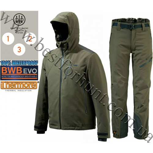 Beretta® Insulated Active Jacket GU481 Green with Beretta® Insulated Active Pants CU351 Green