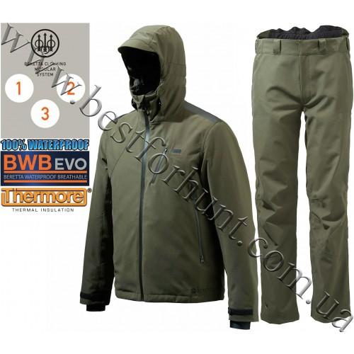 Beretta® Insulated Active Jacket GU481 Green with Beretta® Light Active Pants CU222 Green