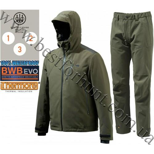 Beretta® Insulated Active Jacket GU481 Green with Beretta® Lite Shell Pants CU392 Green