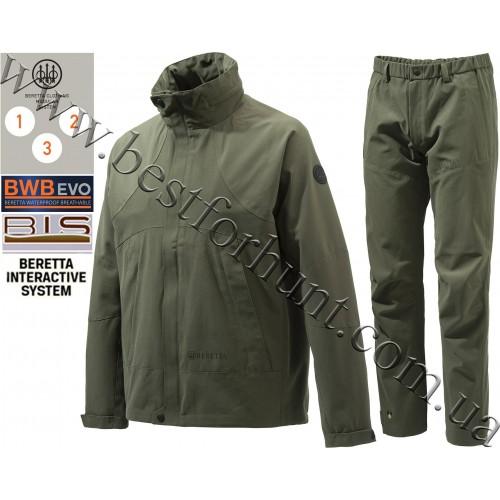 Beretta® Lite Shell Jacket GU972 Green with Beretta® Lite Shell Pants CU392 Green