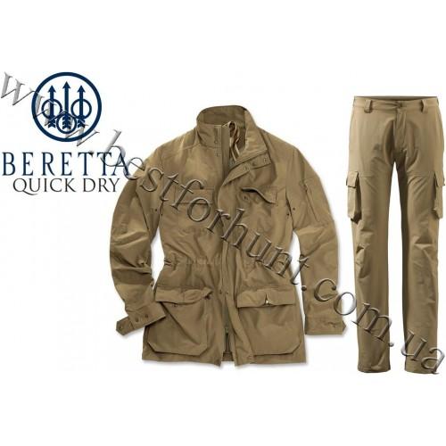 Beretta® Quick Dry Jacket GU021 Fir Green with Beretta® Quick Dry Cargo Pants CU991 Fir Green