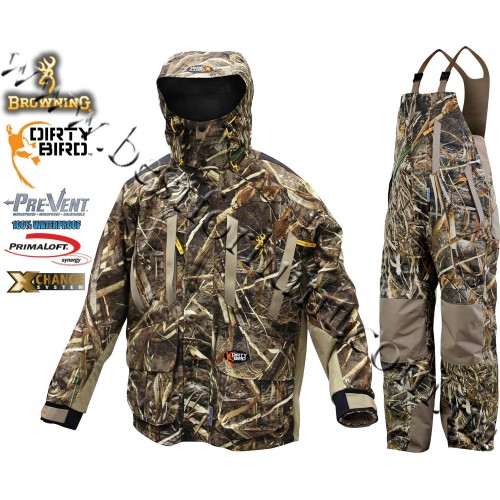 Browning® Dirty Bird™ Pre-Vent® Waterproof Insulated 4-in-1 Hunting Set Realtree MAX-5®