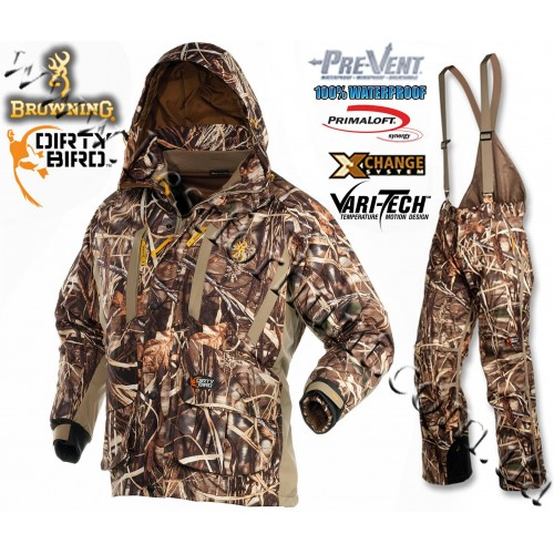 Browning® Dirty Bird™ Pre-Vent® Waterproof Insulated 4-in-1 Realtree MAX-4®