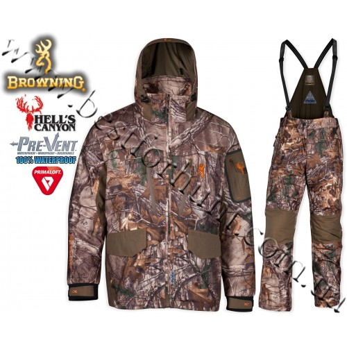Browning® Hell's Canyon™ 4-in-1 PrimaLoft® Insulated Waterproof Set Realtree Xtra®