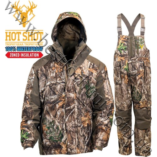 HOT SHOT® Gear 3in1 Insulated Camo Waterproof Hunting Set Realtree Edge™