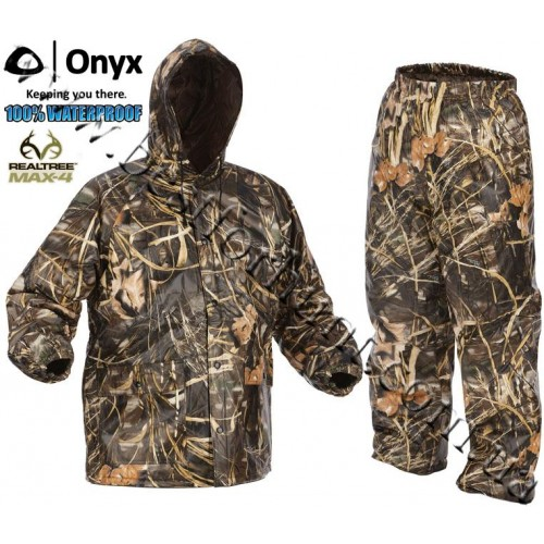 Onyx® PVC Quilted Rain Set Realtree MAX-4®