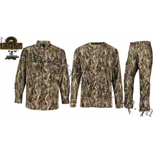 RedHead® Silent-Hide Button-Down Shirt with Pants and T-Shirt Hunting Set True Timber® DRT™