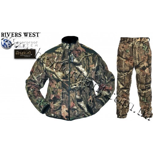 Rivers West® Frontier™ Midweight Waterproof Fleece Set Mossy Oak® Break-Up® Infinity™