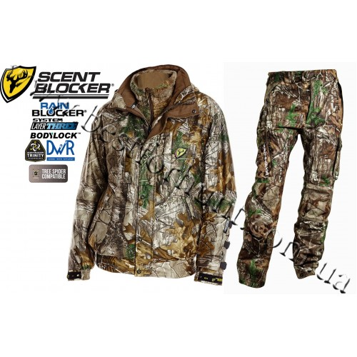 ScentBlocker® Trinity™ Outfitter™ RainBlocker® 4-in-1 Set Realtree Xtra®