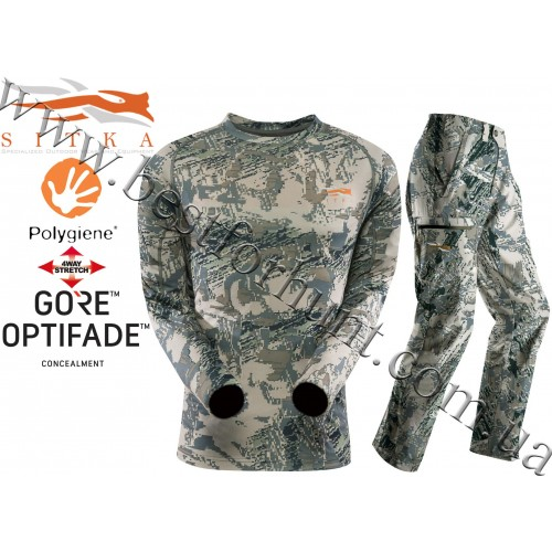 Sitka™ Core Lightweight Long Sleeve Crew with Sitka™ Gear Ascent Pant GORE™ OPTIFADE™ Concealment in Open Country
