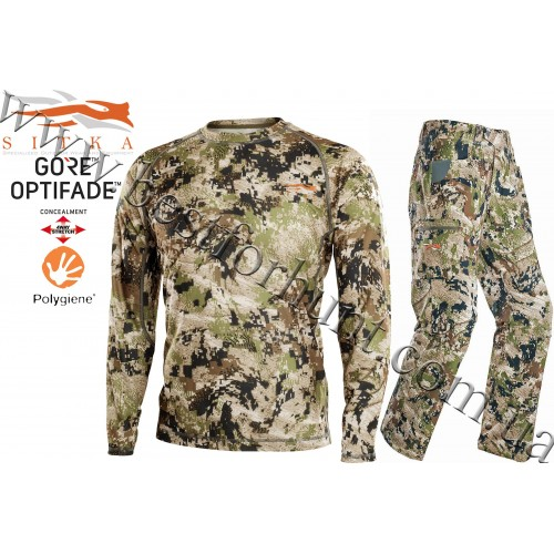 Sitka™ Gear Core Lightweight Long Sleeve Crew with Sitka™ Gear Traverse Pant GORE™ OPTIFADE™ Concealment in Subalpine