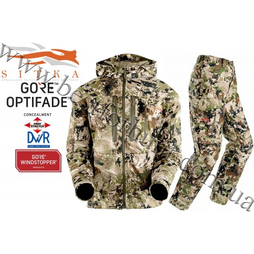 Sitka™ Gear Jetstream Jacket with Sitka™ Gear Mountain Pant GORE™ OPTIFADE™ Concealment in Subalpine