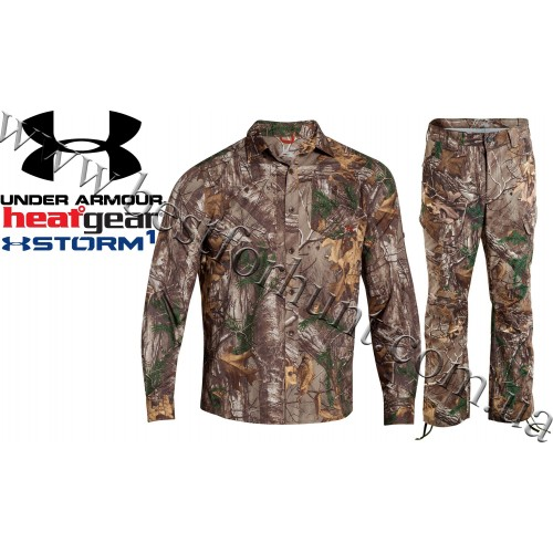 Under Armour® Chesapeake Camo Hunting Long Sleeve Shirt Realtree Xtra® with Under Armour® Storm Performance Field Pant Realtree Xtra®