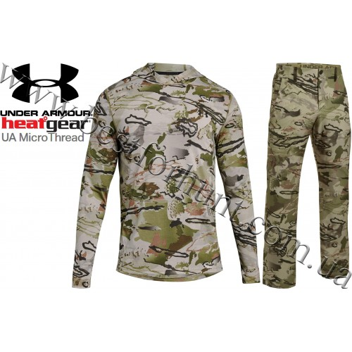 Under Armour® Microthread Early Season Hunting Base Shirt and Stealth Reaper Early Season Hunting Pants in Ridge Reaper Barren® Camo