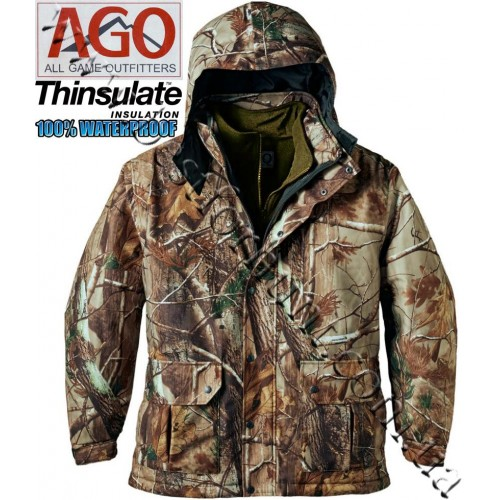 A.G.O. 3-In-1 Waterproof Insulated Parka Realtree AP®