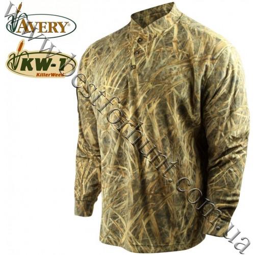 Avery Outdoors® Fleece Henley Shirt KW-1®