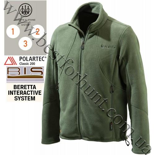 Beretta® Active Track Full Zip Fleece Jacket P3171 Green